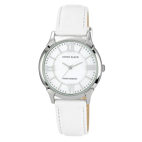 Anne Klein - Ladies white round dial watch