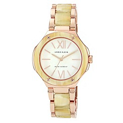 Anne Klein - Ladies white buckled strap watch