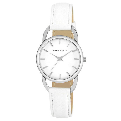 Anne Klein - Ladies silver two tone diamante bezel watch