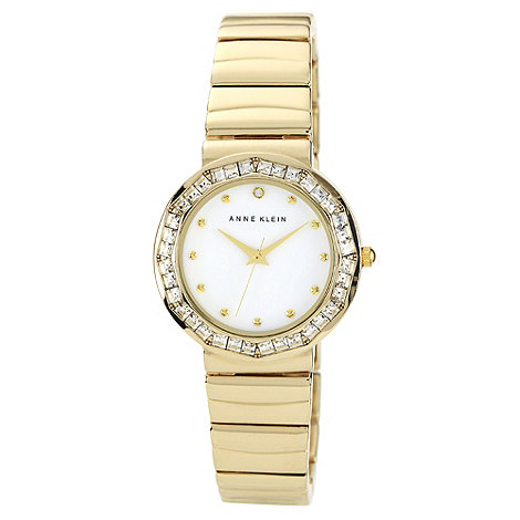Anne Klein - Ladies gold diamante bezel bracelet watch