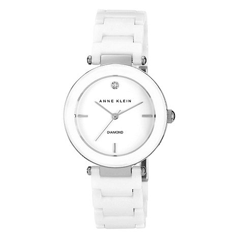 Anne Klein - Ladies rose mother of pearl dial watch