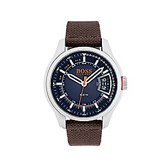 Boss Orange - Mens hong kong brown strap watch