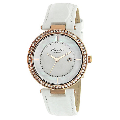 Kenneth Cole - Ladies white mother of pearl dial watch