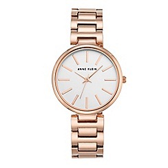 Anne Klein - Women's watch with rose gold case and silver bracelet