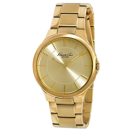 Kenneth Cole - Ladies gold stainless steel bracelet watch