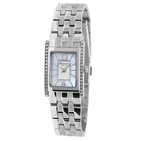 Kenneth Cole - Ladies square mother of pearl dial watch