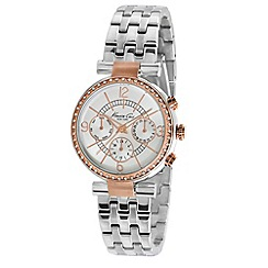 Kenneth Cole - Ladies silver two tone chronograph watch