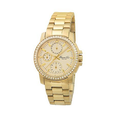 Kenneth Cole - Ladies gold mother of pearl dial watch