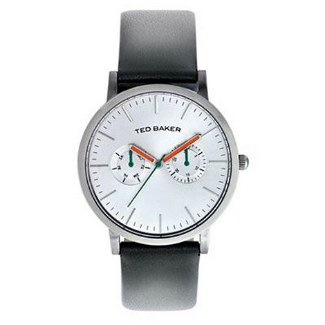 Ted Baker - Designer men+s dark grey multi dial watch