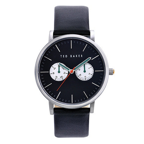 Ted Baker - Designer men+s black multi dial watch