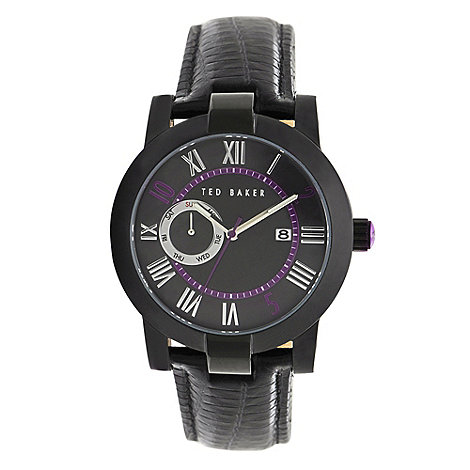 Ted Baker - Designer men's black mother of pearl dial watch
