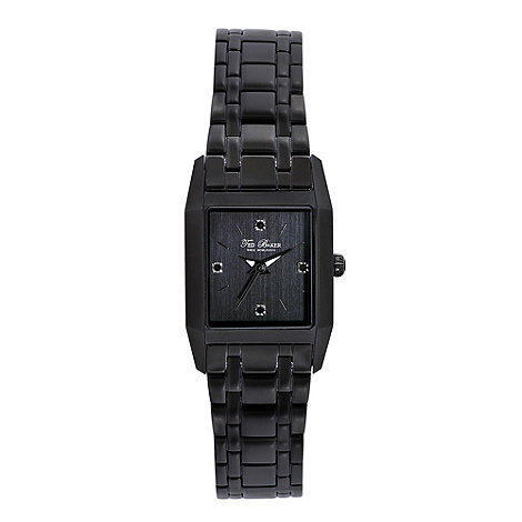 Ted Baker - Designer ladies black bracelet watch