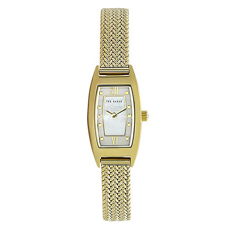 Ted Baker - Designer ladies gold mother of pearl dial watch