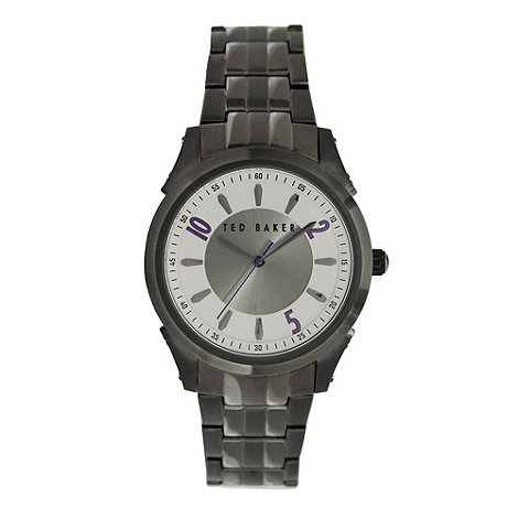 Ted Baker - Designer men+s gunmetal bracelet watch