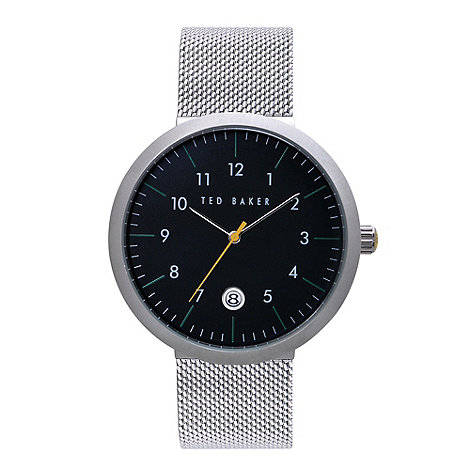 Ted Baker - Designer men+s silver meshed strap watch