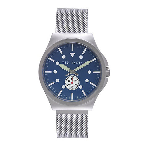 Ted Baker - Designer men+s blue meshed strap watch