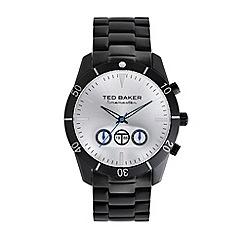 Ted Baker - Designer men's black chronograph bracelet watch