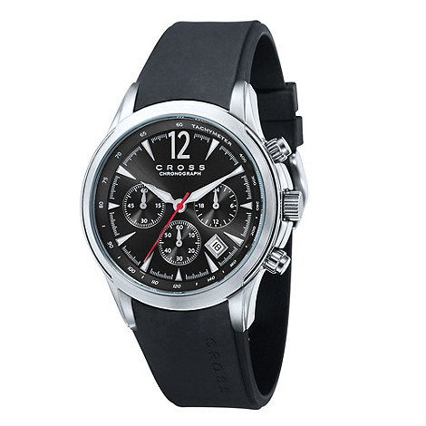 Cross - Men+s black chronograph dial watch
