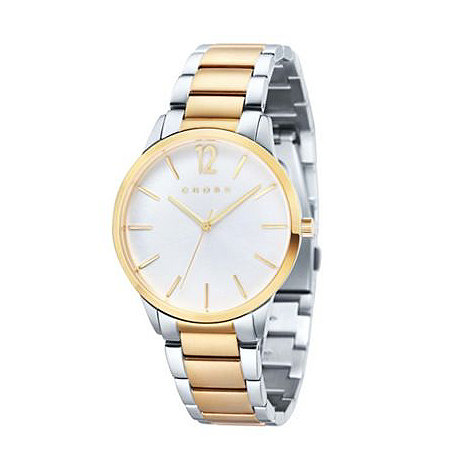 Cross - Men+s silver and gold two-tone bracelet watch