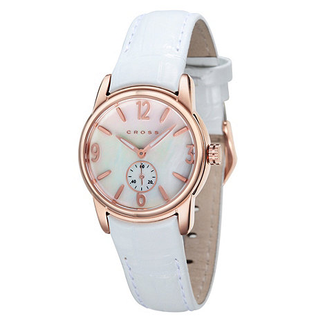 Cross - Ladies+ white and gold rainbow dial watch