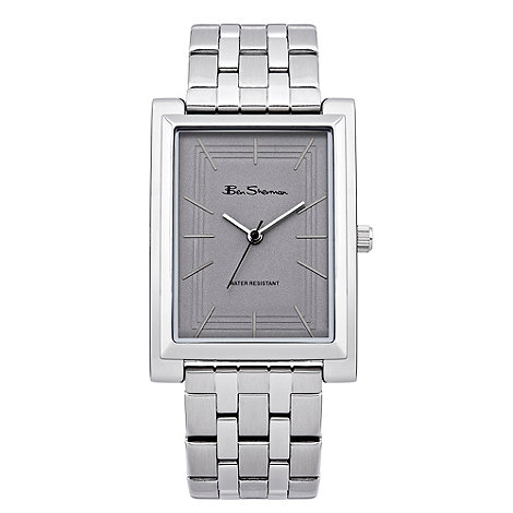 Ben Sherman - Men+s silver square dial bracelet watch