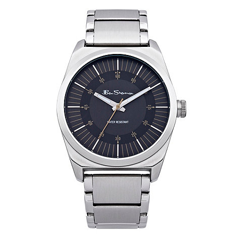 Ben Sherman - Men+s silver black dial bracelet watch