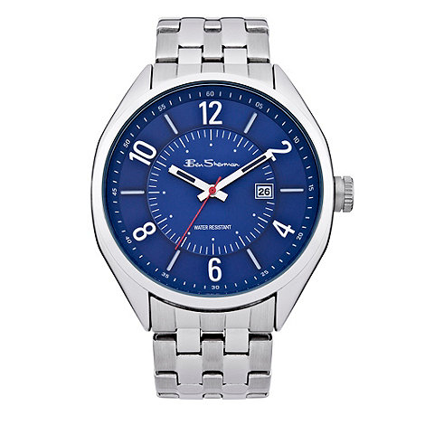 Ben Sherman - Men+s silver blue dial bracelet watch