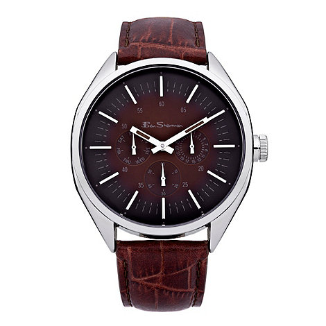 Ben Sherman - Men+s brown mock crock leather watch