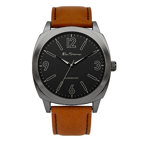 Ben Sherman - Men+s tan leather strap watch