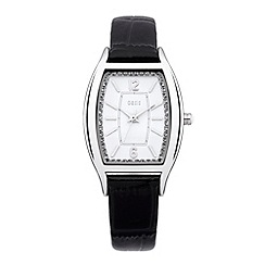 Oasis - Ladies' black silver dial watch