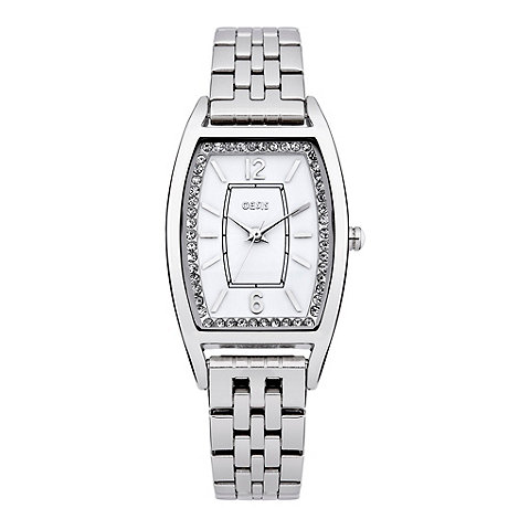 Oasis - Ladies+ silver diamante bracelet watch
