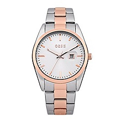 Oasis - Ladies' silver and rose bracelet watch