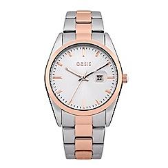 Oasis - Ladies' silver and rose bracelet watch