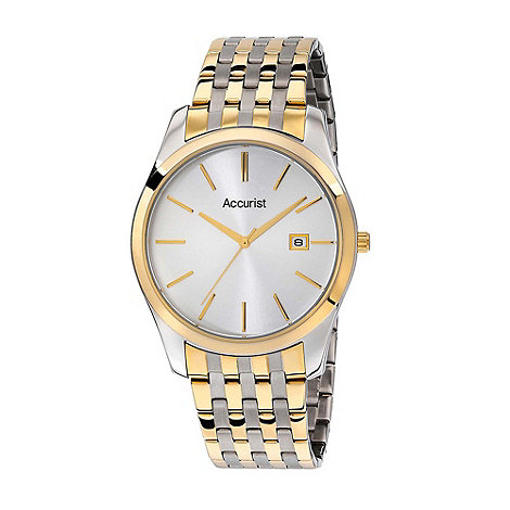 Accurist - Men+s steel two tone bracelet watch