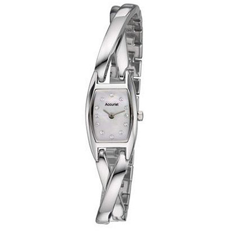 Accurist - Ladies silver semi-bangle bracelet watch