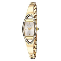 Accurist - Ladies' gold semi bangle watch