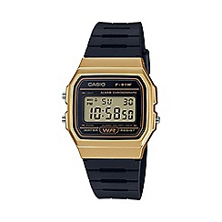 Casio - Unisex black 'Core' retro alarm chronograph watch