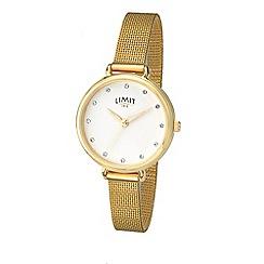 Limit - Ladies gold plated mesh bracelet watch