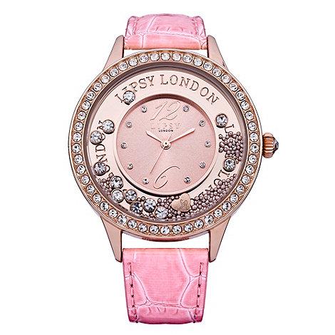 Lipsy - Ladies pink diamante watch
