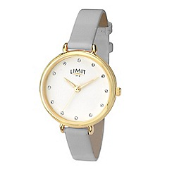 Limit - Grey Ladies gold plated strap watch