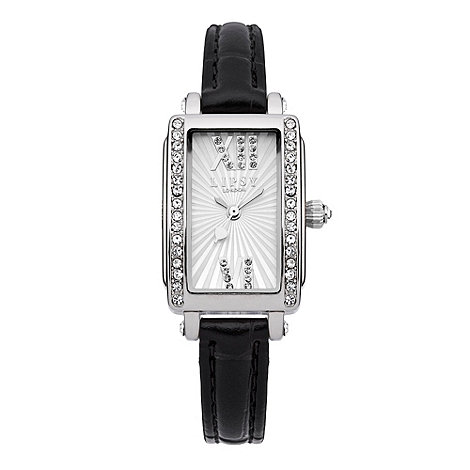 Lipsy - Ladies+ black rectangular dial watch