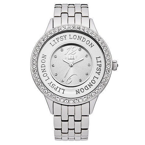Lipsy - Ladies+ silver diamante watch