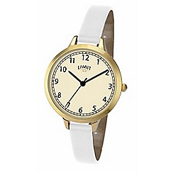 Limit - White Ladies gold plated strap watch