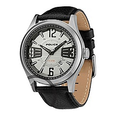 Police - Men's black 'lancer' leather strap watch