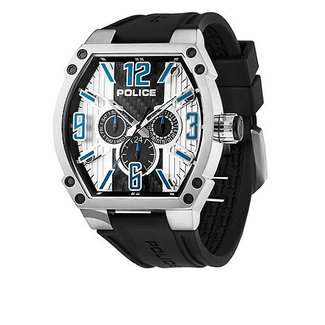 Police - Men+s black +cobra+ tonneau multi dial watch