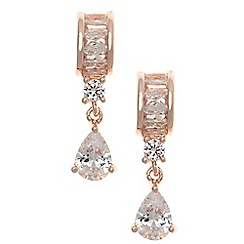 Anne Klein - Rose gold tone tear drop earrings