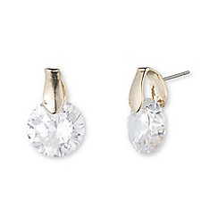 Anne Klein - Gold tone cubic zirconia pierced earrings