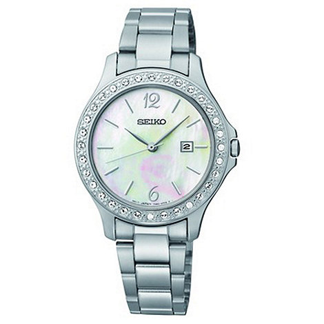Seiko - Ladies silver mother of pearl watch