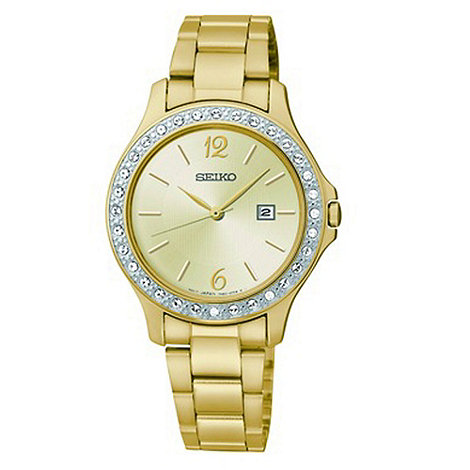 Seiko - Ladies gold plated watch