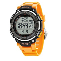 Timberland - Men's orange 'cadion' digital led watch